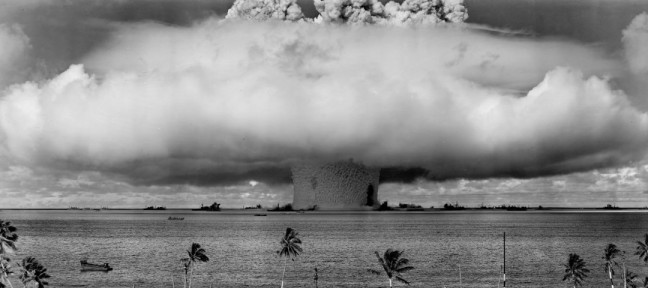US nuclear weapon test at Bikini Atoll in 1946 (US Department of Defense)